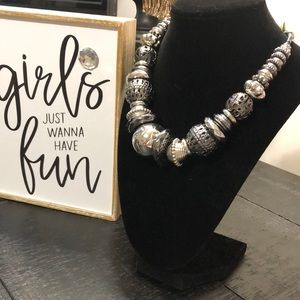 NWT Bold Elements Silver Tone Necklace!